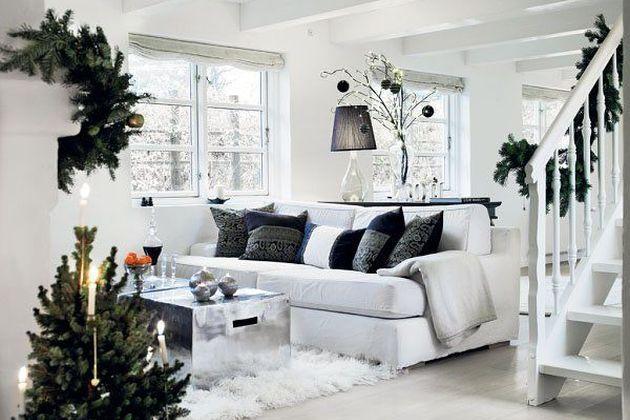Bijeli rustikalni Božić