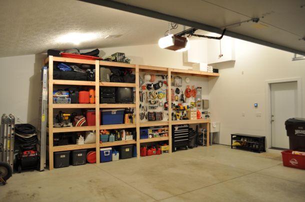 Garažne drvene police